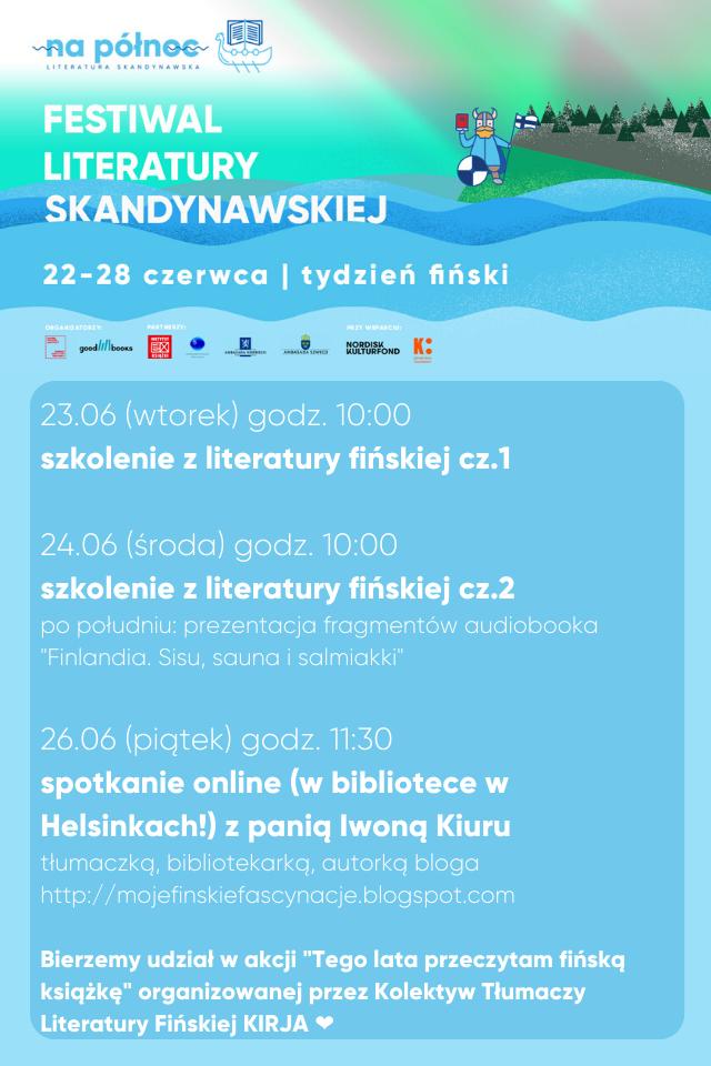 Festiwal literatury skandynawskiej. 22 - 28 czerwca.