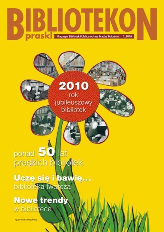 Okładka 1 numeru Bibliotekonu Praskiego - magazynu Bibliotek Publicznych na Pradze-Południe