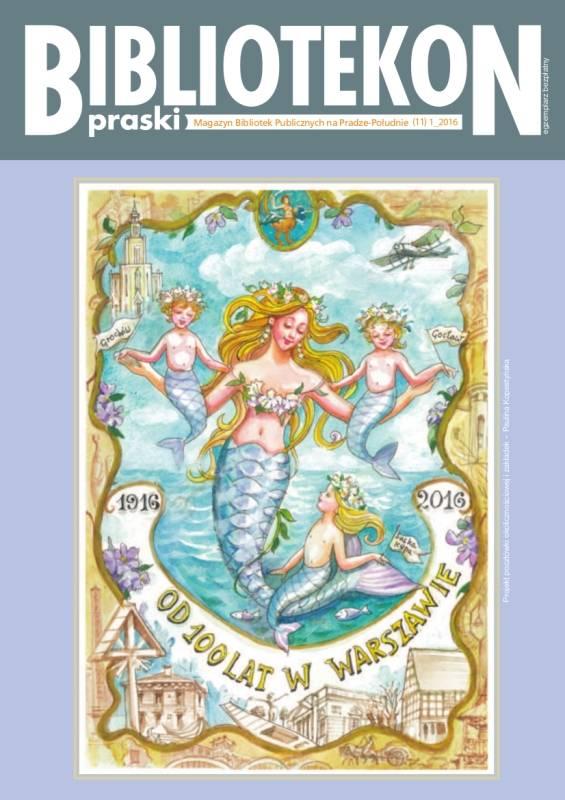 Okładka 13 numeru Bibliotekonu Praskiego - magazynu Bibliotek Publicznych na Pradze-Południe
