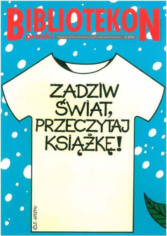 Okładka 2 numeru Bibliotekonu Praskiego - magazynu Bibliotek Publicznych na Pradze-Południe