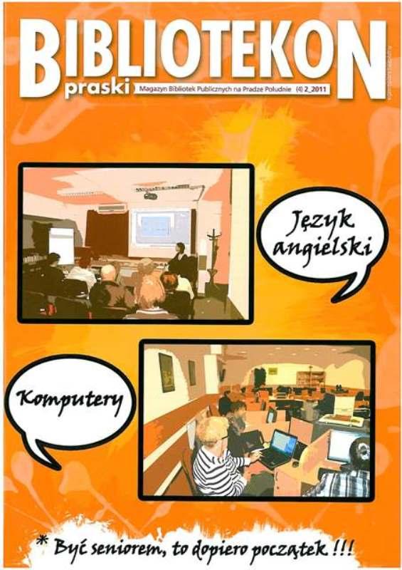 Okładka 4 numeru Bibliotekonu Praskiego - magazynu Bibliotek Publicznych na Pradze-Południe