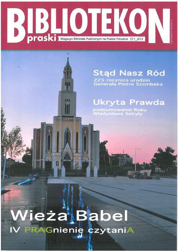 Okładka 7 numeru Bibliotekonu Praskiego - magazynu Bibliotek Publicznych na Pradze-Południe