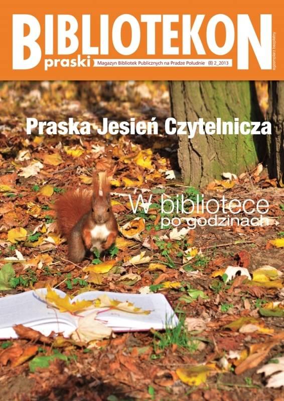 Okładka 8 numeru Bibliotekonu Praskiego - magazynu Bibliotek Publicznych na Pradze-Południe