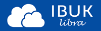 Tekst IBUK libra umieszczony na niebieskim tle.