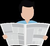 Mężczyzna czytający gazetę