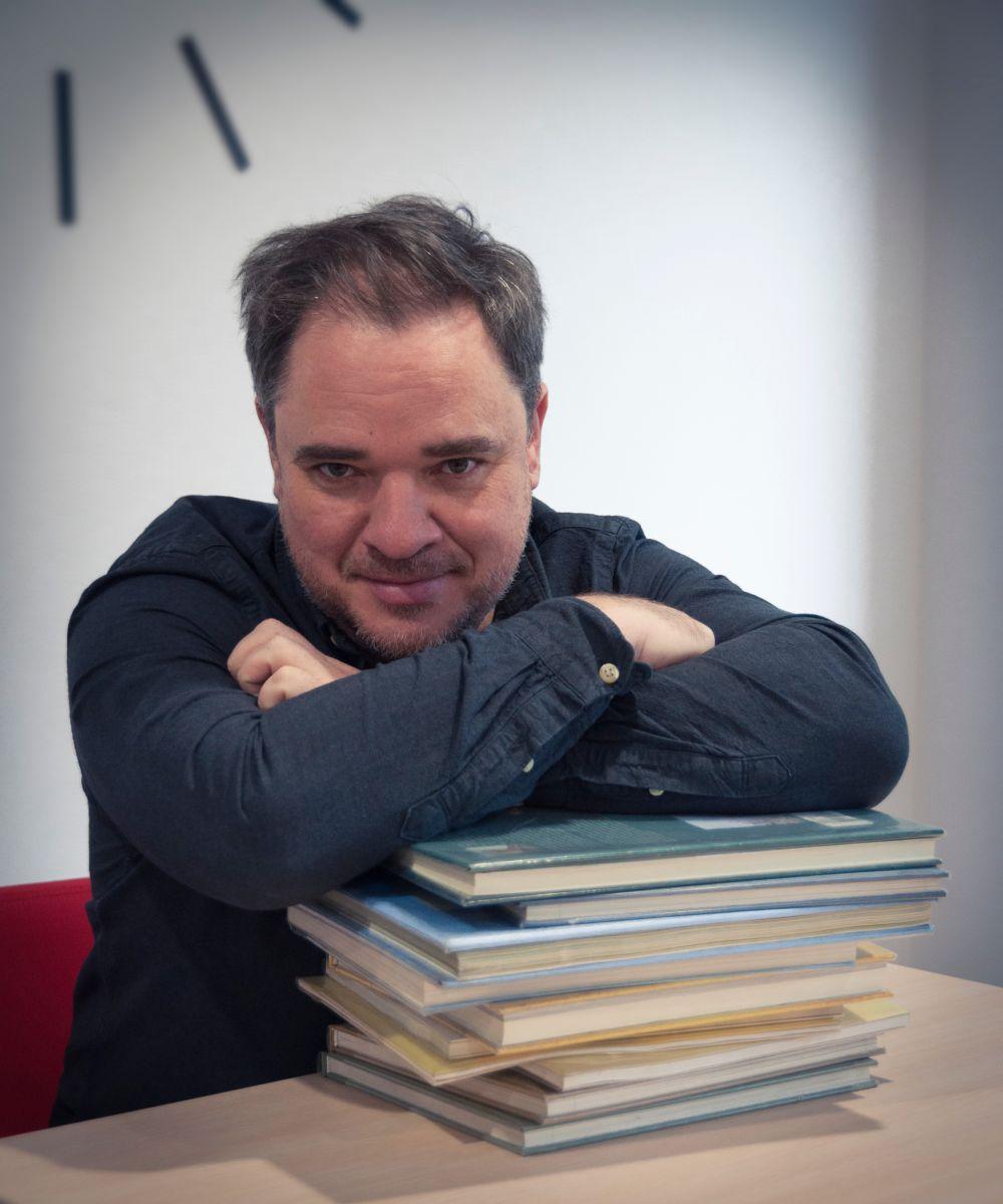 Grzegorz Kasdepke w bibliotece przy ul. Meissnera 5