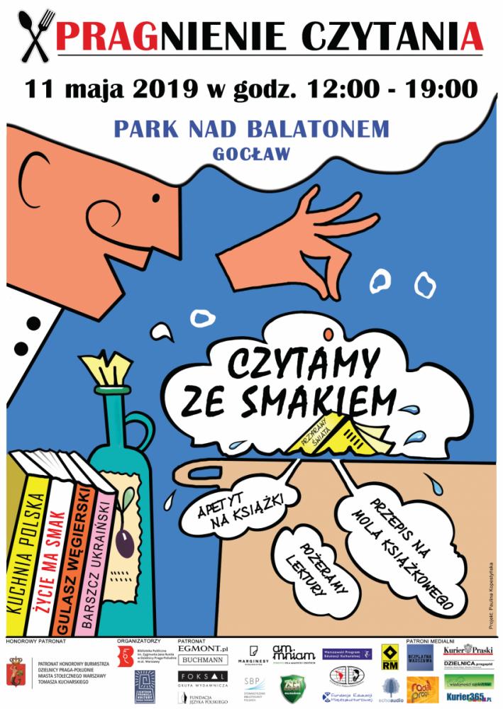 X Pragnienie Czytania, 11 maja 2019 w godz. 12 - 19. Park nad Balatonem